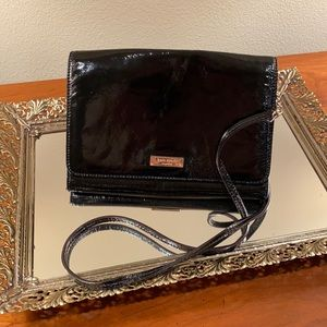 Black Kate Spade Patent Leather Crossbody Purse